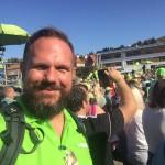 Moderator Jochen Voß beim SWR4 Wandertag